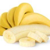 Ripe bananas isolated on white